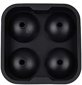 Party Festival Silicone 4 Hole Ice Cube Ball Drinking Maker Mold Sphere Mould Bar Ice Hockey