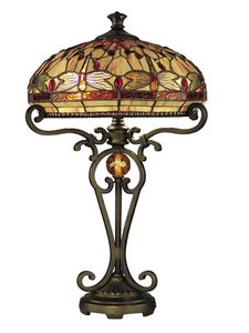 Dale Tiffany Dragonfly Lamp - 5