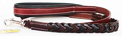 CHALLENGER Handmade Beaded Leather Dog Collar Leash Padded Handle 4' 60008A