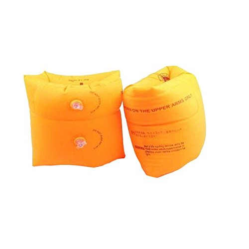 mofek Inflatable Swim Rollup Arm Bands Floatation Sleeves Swimming Rings Floats Tube Armlets for Adult (Orange)