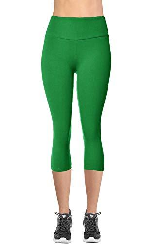 VIV Collection Signature Capri MID Yoga Waist NO Pocket (M, Green)]()