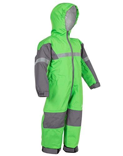 OAKI Rain Suit Kids - Toddler Snowsuit - One Piece Rain Jacket/Pant for Girls & Boys, Classic Green, 6/7
