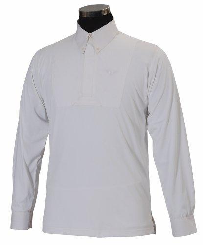 TuffRider ADAM Boys Longsleeve Show Shirt, White, M CH