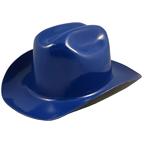 Hat Western Hard - Western Cowboy Hard Hat with Ratchet Suspension - Royal Blue