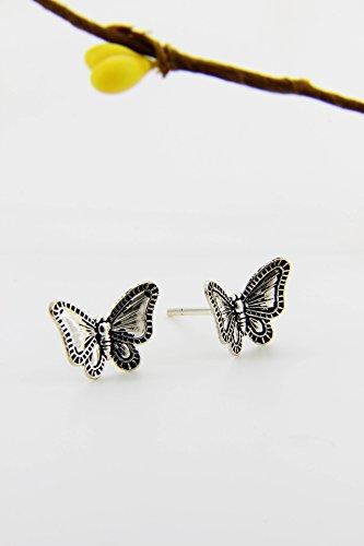 KENHOI Beauty s925 sterling silver thai silver three-dimensional butterfly earrings earings dangler eardrop by KENHOI Beauty