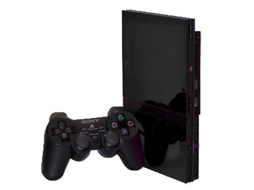 Sony PlayStation 2 Slim (PS2 Slim) Skin - NEW - BLACK CHROME MIRROR system skins faceplate decal mod