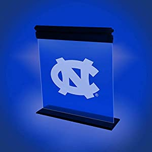 NORTH CAROLINA TAR HEELS ACRYLIC LED LIGHT DISPLAY MAN CAVE OFFICE