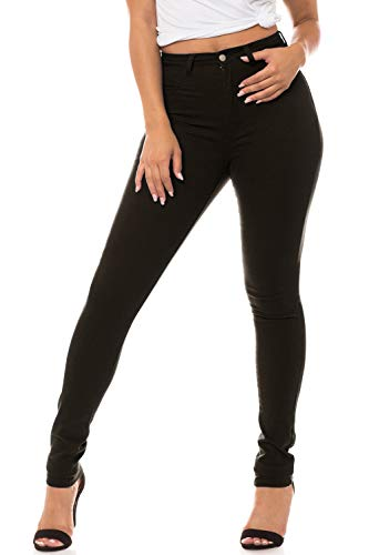 - Aphrodite High Waisted Jeans for Women - High Rise Waist Skinny Womens Jeans with Faux Front Pockets 4271 Black 1