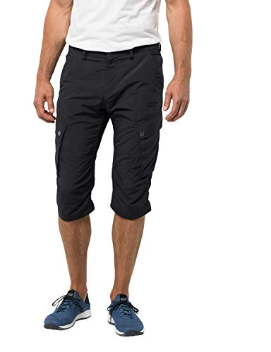 Jack Wolfskin Men's Desert Valley 3/4 Men's Travel Pants With Uv Protection,Phantom ,50 (U Small 34/32)