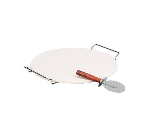 史低价!意大利原产陶瓷披萨烘烤盘 + 批萨刀套装$12.56!