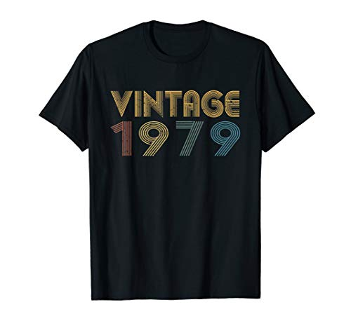 - 40th Birthday T Shirt Gift Classic Men Women Vintage 1979