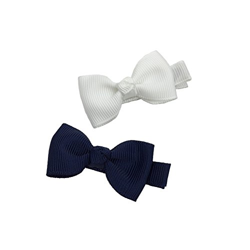 efe62db9f7a87 Ruyaa 2 Inch Tiny Hair Bows Clips Fully Lined for Baby Girls Fine Hair  Infants 20pcs