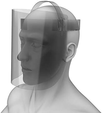 Transparant Casco Protettivo 22//30 Unisex-Adulto Transparent Mobimods Gesichtsschutzschild aus Hochvertigen Materialien