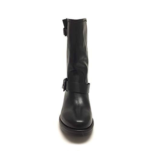 Gar Fibbia Nero Neri Alta Vera Alti Shoe Boots Italy In Pelle Biker Doppia Stivaletti Made Suola dT1nqzZf