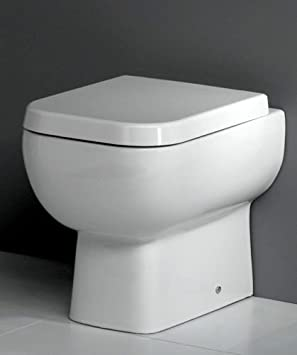 600 Square Back to Wall Toilet Pan WC BTW Short Projection Soft