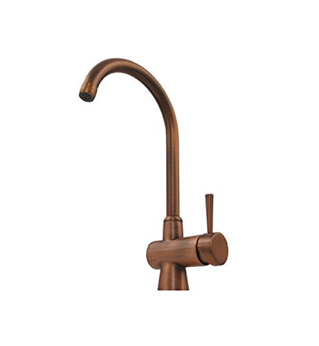 Whitehaus WH16606 Evolution arcade single hole/single lever mixer with a gooseneck swivel spout With Finish: Polished Brass
