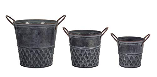 Melrose Pot with Handle Metal Set of 3, 5, 6.75, 8.75 Height