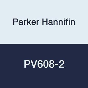Parker Hannifin PV608-2 PV Series Brass Plug Valve 1//8 Female Thread x 1//8 Male Thread
