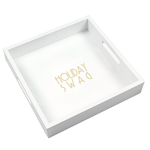 Cathys Decoration Table Concepts (Cathy's Concepts Lacquer Holiday Tray, White)