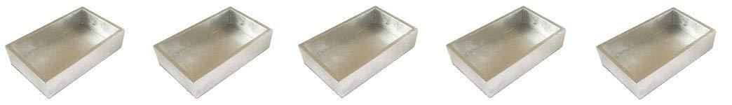 Caspari - ファンシーフラットナプキン/タオルホルダー キッチンやダイニングルーム用 ラッカー シルバー 5-(Pack) 5-(Pack)  B07MVQW732