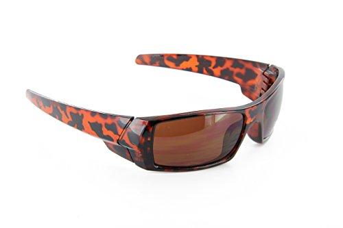 Men Sport Wrap Around Sunglasses Dark Lens - Boutique Eyewear Brands