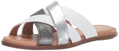 Aerosoles Women's Martha Stewart Pilot Slide Sandal, White Combination, 11 M US