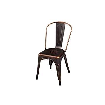IMPT-HOME-DESIGN - Pack 4 sillas metálicas en Blanco o Negro ...