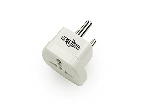 US-Tronic, Paquete de 2 adaptadores Universales de Sudáfrica e India, Blanco: Amazon.es: Electrónica