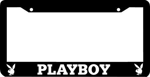Auto Decorative Frames Playboy Black License Plate Frame, Novelty Car Tag Frame, Humor Funny License Plate Cover Holder for US Vehicles, 2 Holes and Screws