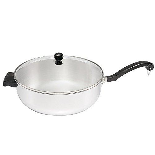Farberware 70097 6 quart Classic Series Jumbo Covered Chef's Pan, Medium, Stainless Steel