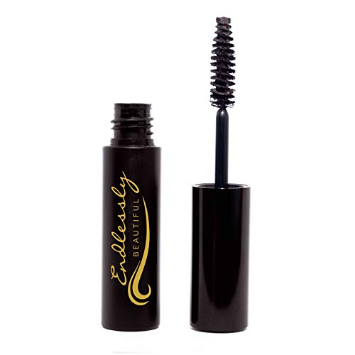 Natural Organic Mascara | Brown Mascara | Vegan & Cruelty Free | Best Mascara for Thickening and Lengthening | Best Gluten Free Eyelash Organic Make Up | Mascara to Lengthen Eyelashes | Non-GMO