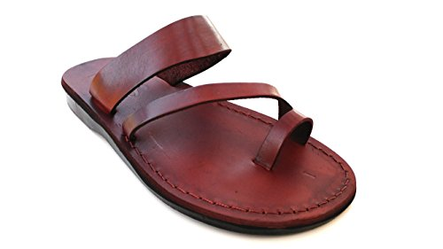 Land Leather Collection (SANDALIM Leather Sandals For Women Biblical Flip Flops Beautiful Comfortable 11 Colors - Marisol Style by)