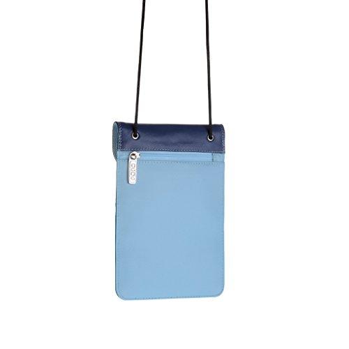 Flacher Brustbeutel mit Hals Lasche von DuDu Blau