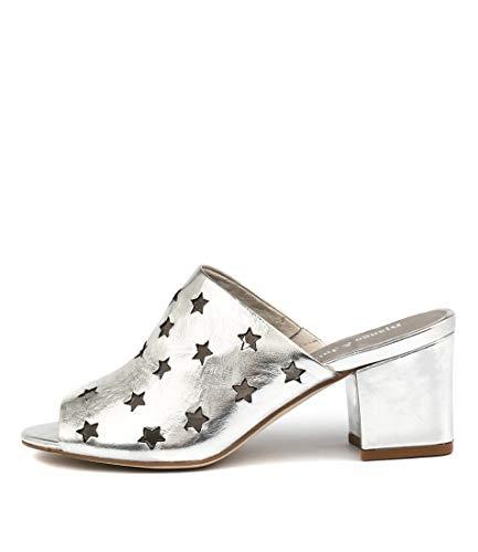 DJANGO & JULIETTE Levis Silver Womens Shoes High Heels Sandals SILVER SHINE LEATHER