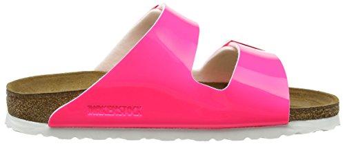 Birkenstock Arizona Birko-Flor - zuecos de material sintético mujer Pink (Neon Pink Lack)