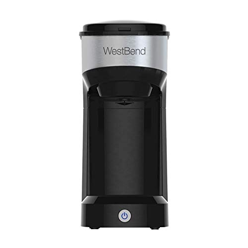 West Bend Single Serve Coffee Maker (Black) Brews K-Cups fresh ground coffee