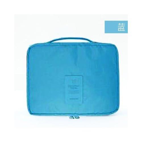 LULANFille élégante a admis l'admission packet size lavez les voyages, vanité, paquet ,vinaigrette 23*18cm,un bleu