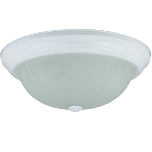 Sunlite DWS15/FR 15-Inch Dome Ceiling Fixture, Textured White Finish with Frosted (Textured White Finish Light)