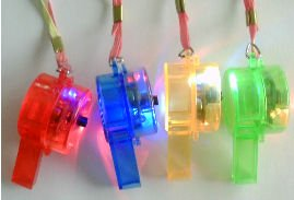 12 LED Flashing Whistle Necklace |12 Per Pack