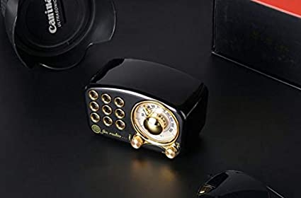 conexi/ón inal/ámbrica Bluetooth 4.2 QKa Altavoz Bluetooth port/átil Retro Radio FM Vintage con Fuerte Mejora de Graves Volumen Alto Tarjeta TF y Reproductor de MP3