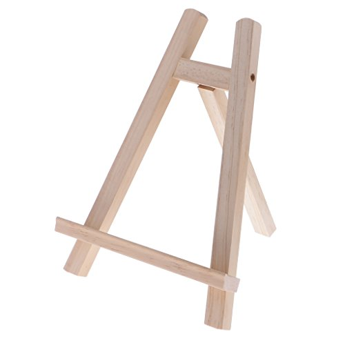 MonkeyJack Mini Artist Wooden Display Easel Tripod Easel Craft Art Easels Photo Painting Holder Easel Wood Wedding Table Card Stand Display Holder For Party Home Decoration