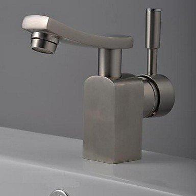 SHUILT Bathroom Sink Faucet in Modern Style Single Handle Waterfall Bathroom Sink Faucet  Mixer Tap(Nickel Brushed)