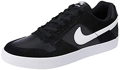Nike Men's SB Delta Force Vulc Shoes, Black, White-Anthracite-White, 10 US