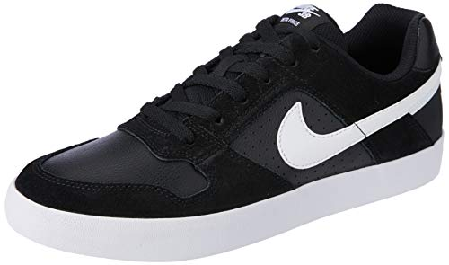 Nike Men's Sb Delta Force Vulc Black/White - Anthracite Ankle-High Leather Skateboarding Shoe 10M