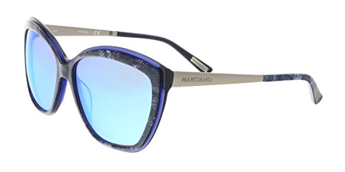 Guess by Marciano - GM0738, Cat Eye, acetate, women, PERIWINKLE BLUE/BLUE MIRROR(92X), - Sunglasses Sale Guess