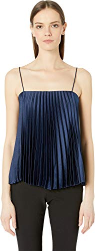 Vince Women's Pleated Cami, Hydra, Blue, Small