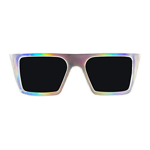 Holographic Rectangle Sunglasses]()