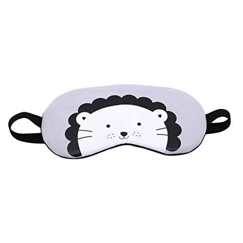 LZIYAN Cartoon Sleep Eye Mask Cute Animal Pattern Eye Mask Blindfold Eye Patch Sleeping Eyeshade Travel Shade Cover,Lion by LZIYAN (Image #1)