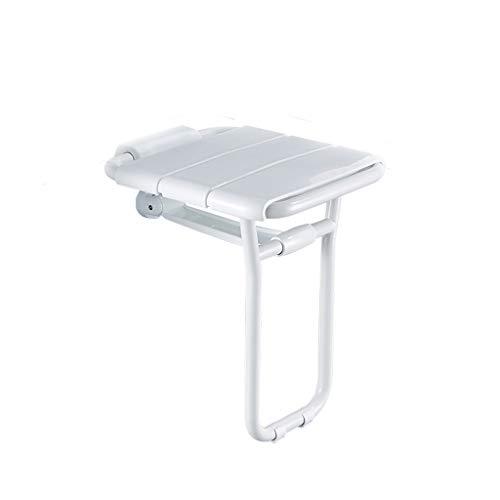 Vineyard Family Safe Bathroom Folding seat Elderly with Legs Bath Chair Folding Chair Shower Wall Bench ()
