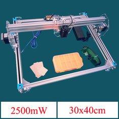 2500mW A3 30x40cm Desktop DIY Violet Laser Engraver